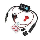 F86S Autoradio Antennenverstärker Universal 12V KFZ Auto Radio Signalverstärker AM/FM Antenne Signal Verstärker für Autos Radio LKWs Universal mit MEHRWEG