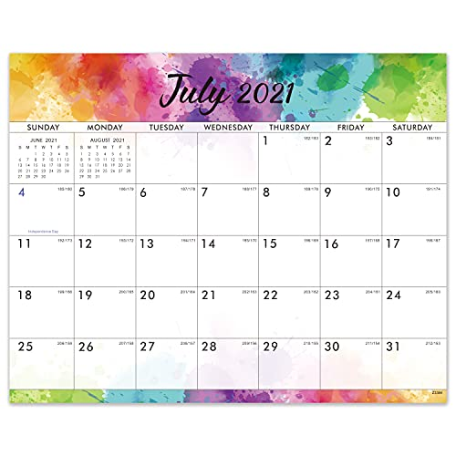 Magnetic Monthly Calendar Pad - Monthly Calendar from July 2021 - June 2022, 8' × 10', Tear-off Pad, Blocks with Julian Dates, Perfect for Easy Planning