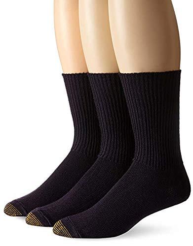 Gold Toe Men's Fluffies Casual Sock (2 PK (6 PAIRS), Navy)