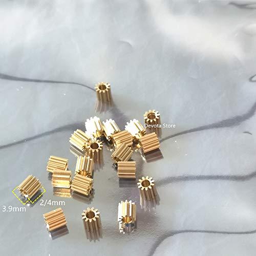Miner 10st 0.3M 11T kleine koperen versnelling 1.48 1.5 1.98 2 mm gatdiameter voor speelgoedauto RC vliegtuiguitrusting, dikte 2 mm, 1,48-1,5 mm