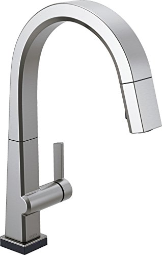 Delta Faucet Pivotal Single-Handle Touch Kitchen Sink Faucet with Pull Down Sprayer, Touch2O Technology and Magnetic Docking Spray Head, Arctic Stainless 9193T-AR-DST