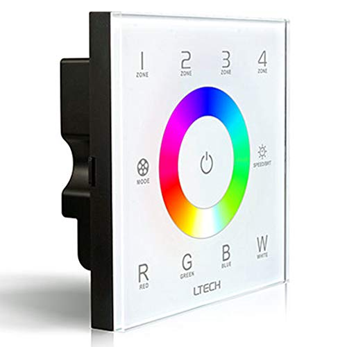 RGBW LED Touch Panel Controller Wireless RF 2.4G DMX512 4 zones besturing voor monochroom CT RGB RGBW LED-lamp