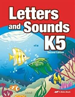 Letters and Sounds K5 - Abeka 5 Year Old Alphabet Recognition Reading Program Student Work Book