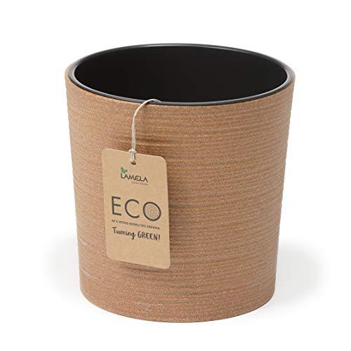 Lamela Eco Blumentopf für Kräuter, Blumentopf   Malwa Dluto   Ø 190 mm   bis zu 40 {bb42956bdc6d96aad12dedf1e5784a4915c1c14ea81245b06d345d8e7f4229be} Holz   Fensterbankhalter Balkon Garten Container Eimer   Home Decor   Mix!