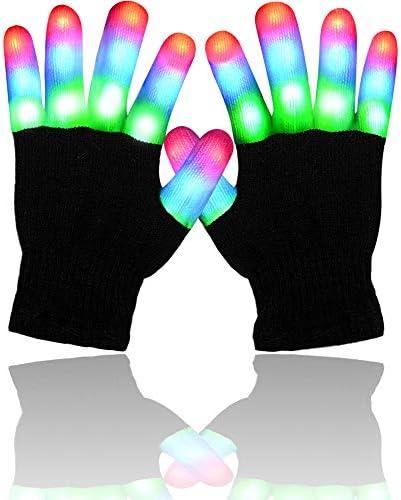 Randalfy Light Up Gloves Light Gloves for Kids Boys Girls Light up Gloves for Halloween Christmas product image