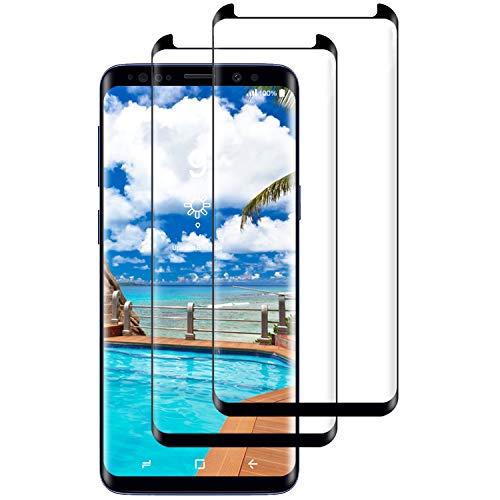 Miuphro [2-Unidades Cristal Templado Compatible con Samsung Galaxy S8 Plus, Protector de Pantalla Samsung Galaxy S8 Plus, [Alta Definicion][2.5d Borde Redondo] [9H Dureza] [Fácil Instalación]