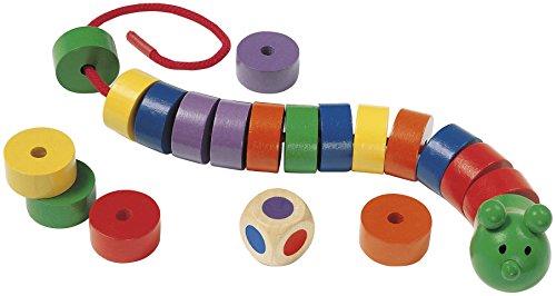 Selecta 63005 Fädelraupe, Kinderspielzeug
