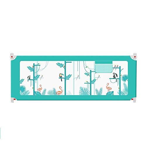 MLTYQ Life-Bettgitter Bettschutzgitter Extra-Hohe Bett-Schiene Für Die Kleinkinder Faltbar Für Kinderbabybett-Schutzschiene Für Doppelbett (Größe: 220cm)