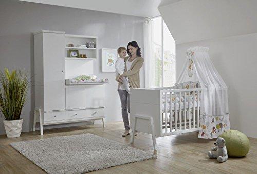 SCHARDT 11 920 02 02 Chambre Holly Blanc : lit kit-transformation armoire combinée