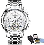 LIGE Herren Uhr Analog Automatik mit Edelstahl Armband 9841 - 7