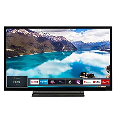 Toshiba 32WL3A63DB 32-Inch HD Ready Smart TV with Freeview Play - Black/Silver (2019 Model) from Toshiba