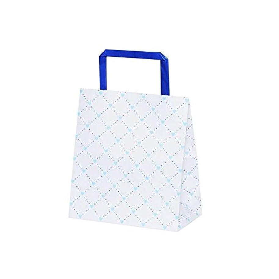 インターネットスケート万歳【ケース販売】 自動手提袋 平紐 H平181 ハートキルティングブルー 巾:180×??:100×高さ:200 200枚(50枚×4包)