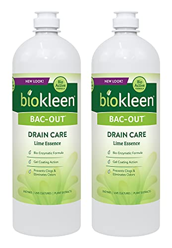 Biokleen Bac-Out Enzymatic Drain Cleaner - 32 Ounce (2 Pack) - Enzyme...