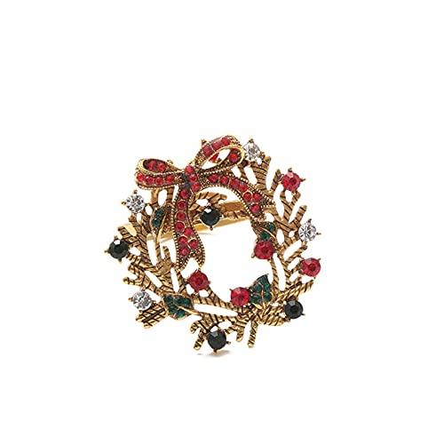 JKLJKL Metalllegierung Serviette Ring Weihnachtsring Weihnachtsverzierungen N Ring Tuch Ring (Color : Multicolor)