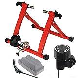 Ecovelò Rullo Ffitness Bici Rosso Turbo Allenamento Indoor Pieghevole Resistenza Magnetica con Supporto E Chiusura SGANCIO RAPIDO | SALVASPAZIO, 24', 25', 26', 27', 28', 29', 700C