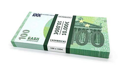 Cashbricks 100 x €100 Euro Spielgeld Scheine Bündel