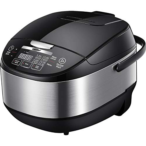 COMFEE' 5.2Qt Asian Style Programmable All-in-1 Multi Cooker, Rice Cooker, Slow Cooker, Steamer, Saute, Yogurt Maker, Stewpot with 24 Hours Delay Timer and Auto Keep Warm Functions