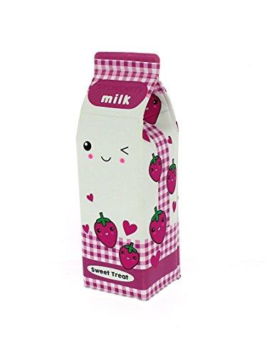 filles Fraise Brique de lait design Trousse cadeau fête École Maison PAPETERIE