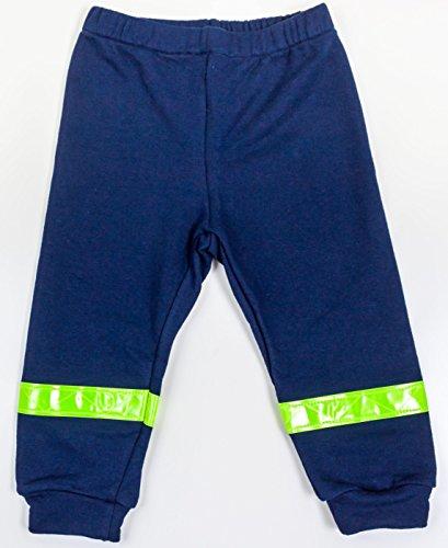 Schlafanzug Kinder Feuerwehrmann Größe 80 86 Blau Baumwolle Druck Feuerwehr Lang Gelbe Reflektoren Fairtrade Ringelsuse - 5
