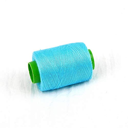 Read About 1pc High Tenacity Cotton Machine Embroidery Sewing Threads Hand Thread Craft Patch Steering-Wheel Supplies,Light Blue