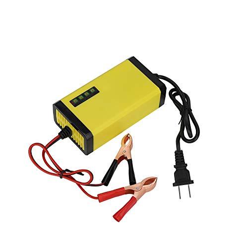 sjlerst Batterieladegerät 2A 12V Motorradladegerät Batterie Intelligente Schutzanzeige mit 4 Batterieanzeigen(European Standard 110-240V)