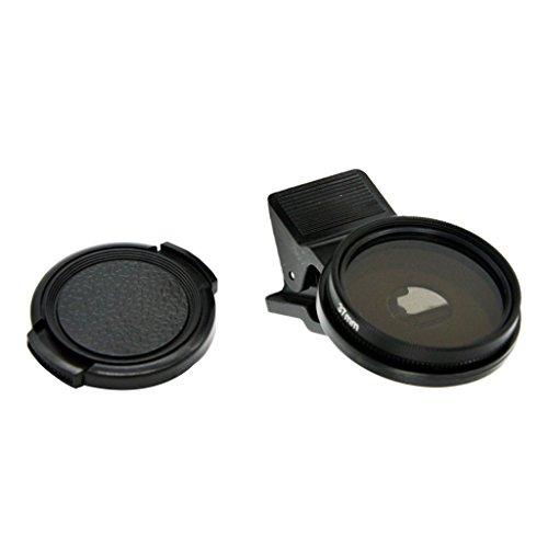 MagiDeal Professionelle Handy Kamera 37 mm Zirkulärer Polfilter Objektiv mit Clip Für iPhone HTC
