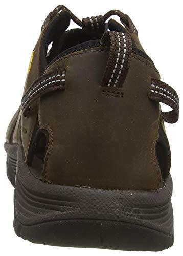 KEEN Men's Targhee 3 Closed Toe Hiking Sport Sandal, Bison/Mulch, 10.5