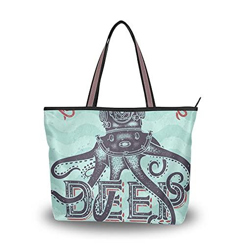 Sacs à bandoulière au fond de la mer sangle légère pour mère femmes filles dames étudiant sac à main Shopping sacs à main sac fourre-tout