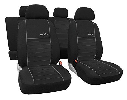 Autositzbezüge, Schonbezüge Trend Line Passend für Seat Ibiza - Universal Stoffsitzbezug Zum Sonderpreis!!! in Diesem Angebot Grau.