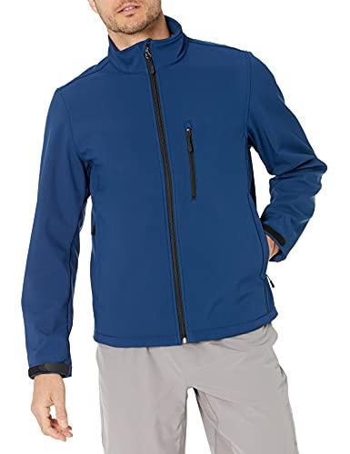 Amazon Essentials Water-Resistant Softshell Jacket Chaqueta, Azul (Navy), Medium