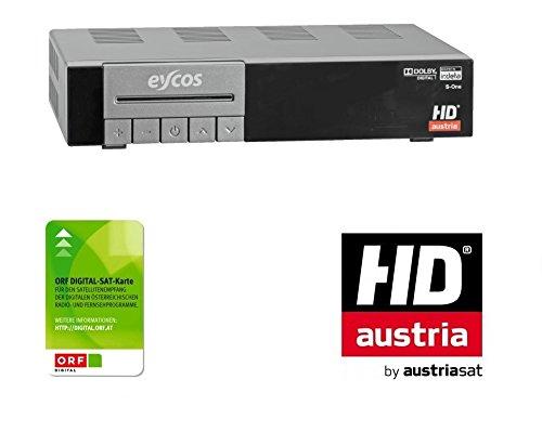 Eycos S-One HDTV Satelliten Receiver SET inklusive neuer ORF HD KARTE (HDMI, ORF-Karte)