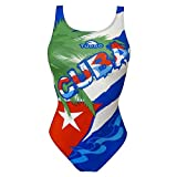TurboTronic Cuba Palmera Bragas de Bikini, Multicolor, L para Mujer