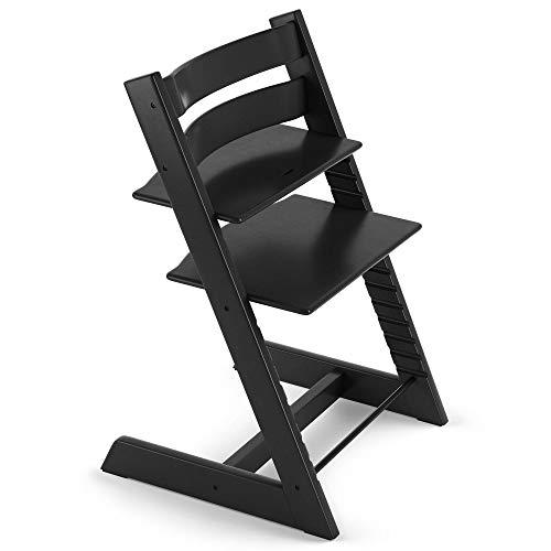 TRIPP TRAPP® Chaise Haute – Chaise haute avec dossier pour bébé ergonomique et évolutive pour toute la vie – Couleur: Noir