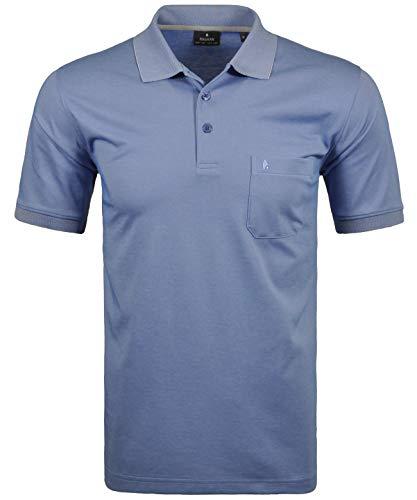 Ragman Herren Kurzarm Softknit Poloshirt, Azur, Gr.- XL