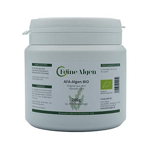 AFA-Algen BIO Wildsammlung 200g (~800 Stück) | Zertifiziert & 100% Bio im Miron-Schutzglas | Reich an Nährstoffen