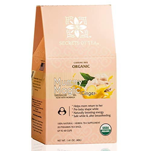 Mummy Magic Weight Loss Tea | Organic Ginger Tea | Postpartum Energy Tea, Up to 40 servings, Naturally Increase Metabolism & Improve Digestion.