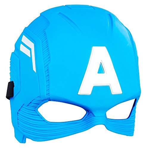 Marvel Avengers Captain America Maske, klassisches Design, inspiriert durch Avengers Endgame, für Kinder ab 5 Jahren