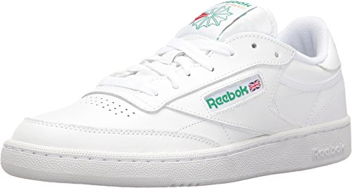 Reebok Herren Club C 85 Sneaker, weiß/grün, 34 EU