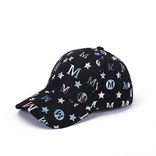 FPXNBONE Cap Hohe Qualität Baseballmütze Für Männer,Brief bestickte Baseballkappe, Paar atmungsaktive Sonne Hut-schwarz,Schirmmütze Sportmütze Sportcap