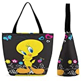 Tweety Bir-d - Bolso de mano impermeable con cremallera para mujer, bolsa de viaje para el hombro, bolsa de playa, bolsa de compras plegable, color Multicolor, talla Talla única