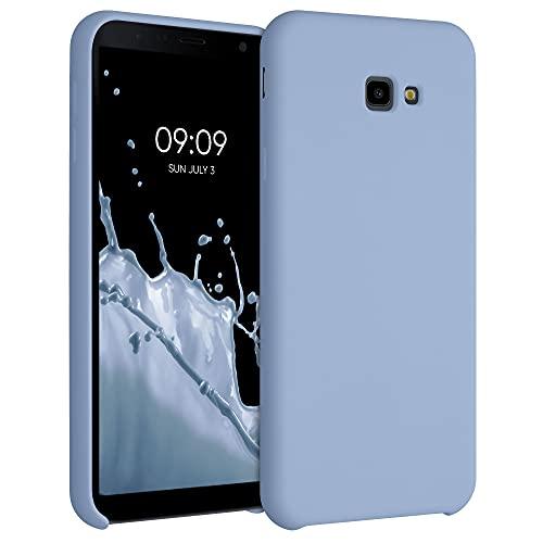 kwmobile Hülle kompatibel mit Samsung Galaxy J4+ / J4 Plus DUOS - Hülle Silikon gummiert - Handyhülle - Handy Hülle in Hellblau matt