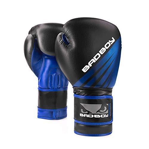 Bad Boy Erwachsene Training Series Impact Boxhandschuhe, Schwarz/Blau, 10oz