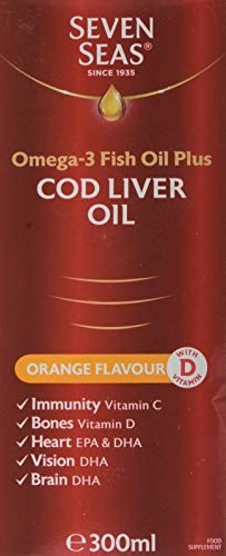 Seven Seas Cod Liver Oil Orange Flavour, 300ml