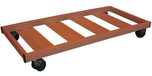 Carrello Portavaso In Metallo 80X35Cm - Con Ruote E Freno - Colore MARRONE