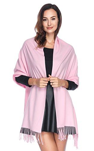 HOYAYO HOYAYO Damen Kaschmir Wolle Umschlagtuch Warm Schal Tuch Stola,Einfarbiger schal für Frauen(vielen Farben)