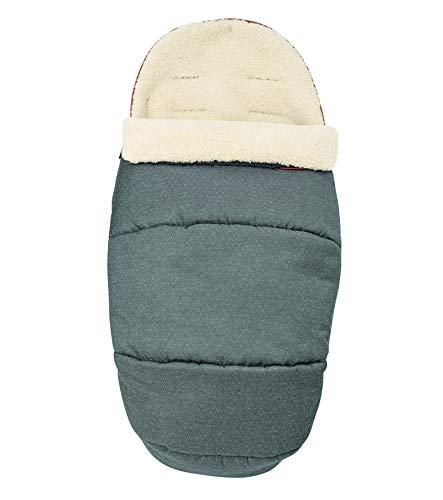 Bebe Confort, gepolsterter Thermo-Fußsack mit Fleece-Bezug für Kinderwagen und Sitzverkleinerer Sparkling Grey