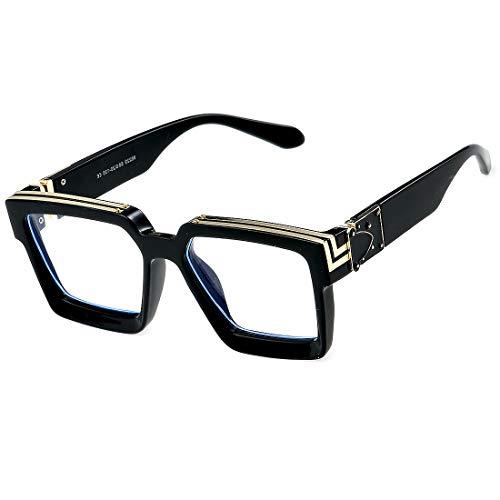 Retro Millionaire zonnebril Square Metal Punk Rock Hip Hop zonnebril mannen vrouwen