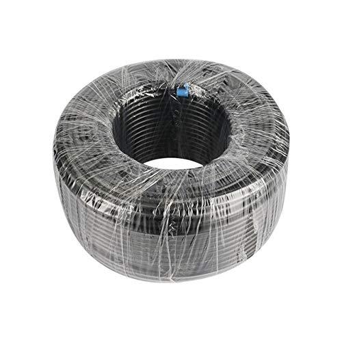 Tubo de polietileno de 20/40/60 mm de diámetro exterior de 6,35 mm de diámetro exterior para riego de jardín, ósmosis inversa, sistema de agua, tubo de acuario (color: negro, longitud: 60 metros)