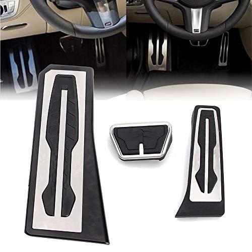 Pedale Reposapies Automatico in Acciaio Inossidabile, Accessori Auto per Pedali Auto, Compatibile con B-MW 1 2 3 4 5 6 7 Serie F01 F02 730Li 740I / Li 750I / Li LHD X3 F10,At 3pcs