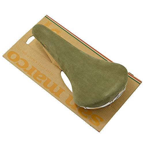 Selle San Marco Rolls Bike Bicycle Chamois Leather Saddle, Olive, SY4077